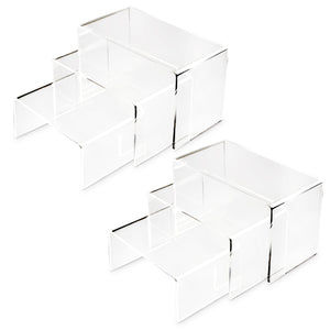 #1102x2 Acrylic Eyewear U-Shaped Risers 6pcs/set