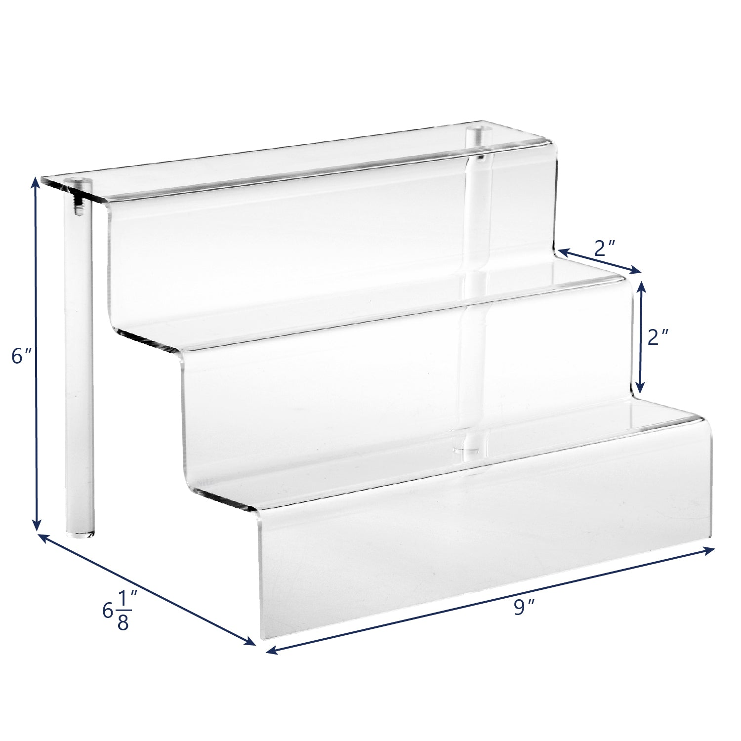 #1250 Acrylic Stairs Eyewear Display Stand, 3 Frames