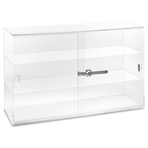 #1468 Acrylic Countertop Eyewear Showcase With Keyed Camlock