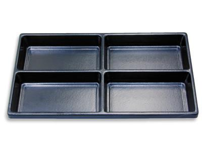 #PT4 Plastic compartment tray, 4 compartments for eyewear parts