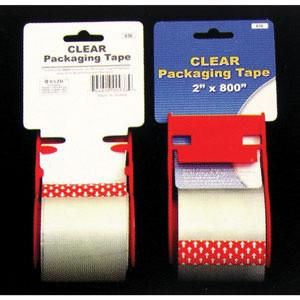 #TAPB-936 Clear Packing Tape With Dispenser