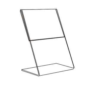 #1221 Acrylic Optical Graphic Holder, 1-Side Slant Back