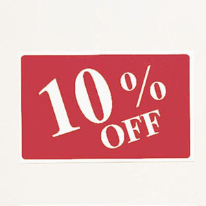 #TA-31 Plastic Sign '' 10% Off ''' For Optical Store