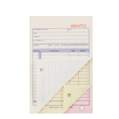#F211-1 3-Part Sales Order Carbonless Book (Small, 3 11/32'' X 5 5/8''), 50 set