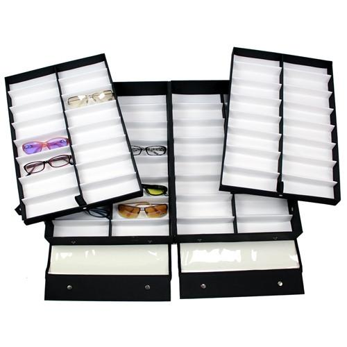 "#TR-3232BC Eyewear Carrying Cases Clear Lid, 64 Frames, 19"" X 12 1/2"" X 5 3/4""H 