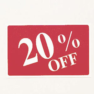 "#TA-33 Plastic Sign '' 20% Off ""' For Optical Store"