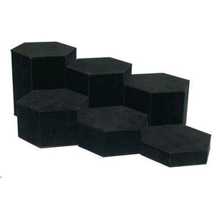 #513-1 Velvet Hexagon Eyewear Risers
