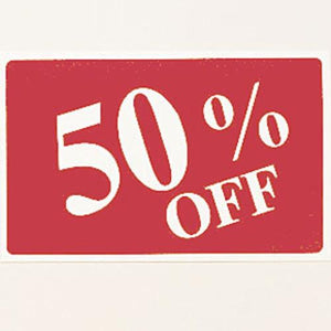 #TA-40 Plastic Sign '' 50% Off ''' For Optical Store