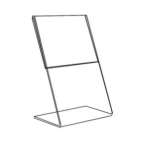 #1219 Acrylic Optical Graphic Holder, 1-Side Slant Back