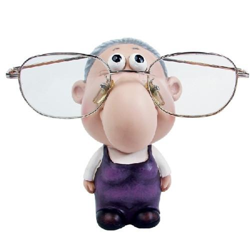 "#DP5620  Eyewear Doll Display - Old Lady, 2 3/4"" W x 3 1/2""D x 4 1/2""H"