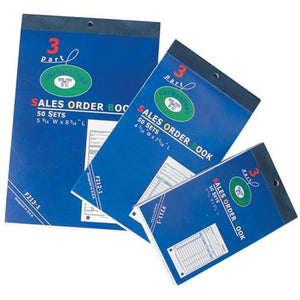 #F212-1 3-Part Sales Order Carbonless Book (Medium, 4 3/16'' X 7 3/16''), 50 Set