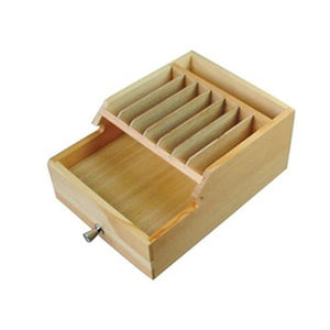 #WD1333 Wooden Eyewear Parts Organizer W/Drawers 8 3/4'' X 6 1/2'' X 3  3/4''