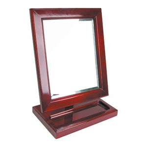 #MR-1813W-RW Wooden Frame Eyewear Mirror With Tray 10'' X 6 1/4'' X 13 1/2''H