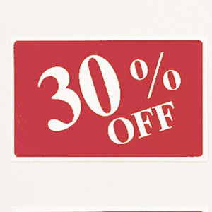 #TA-37 Plastic Sign '' 30% Off ''' For Optical Store