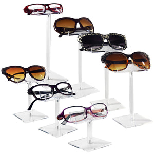 #AC-0107-S Acrylic Single Eyeglass Frame Stand.7pcs/set