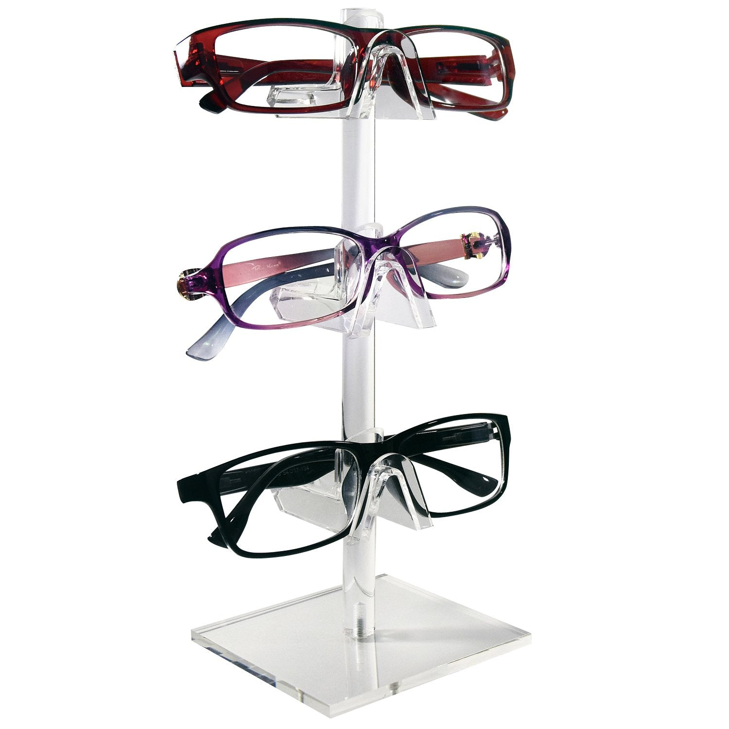#AC-023 Acrylic Eyeglasses Frame Riser, 3 Frames | APEX International