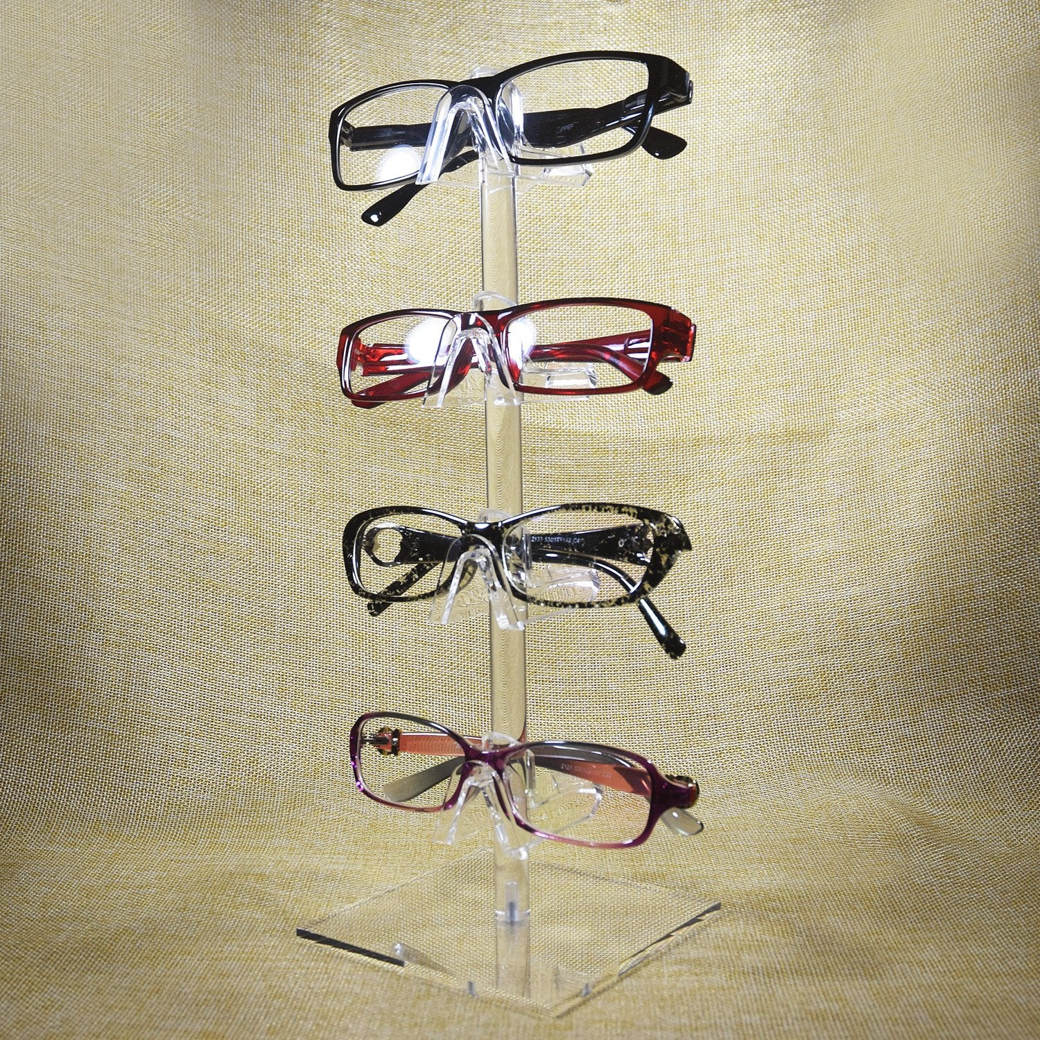 #AC-024 Acrylic Eyeglasses Frame Riser, 4 Frames | APEX International