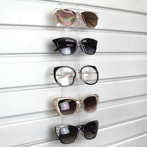 #AC-065 Acrylic Slatwall 5 Eyeglass Frame Display