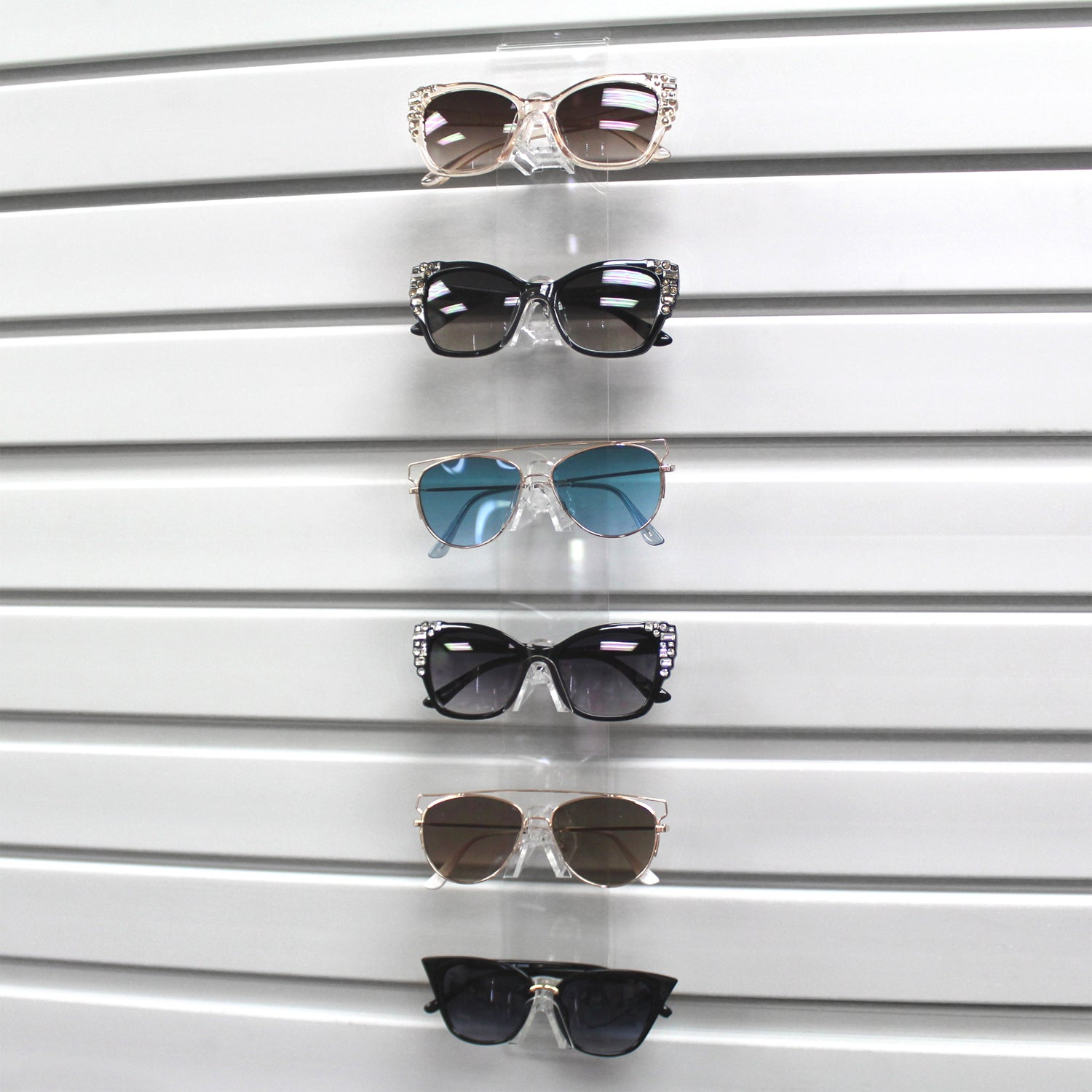 #AC-066 Acrylic Slatwall 6 Eyeglass Frame Display