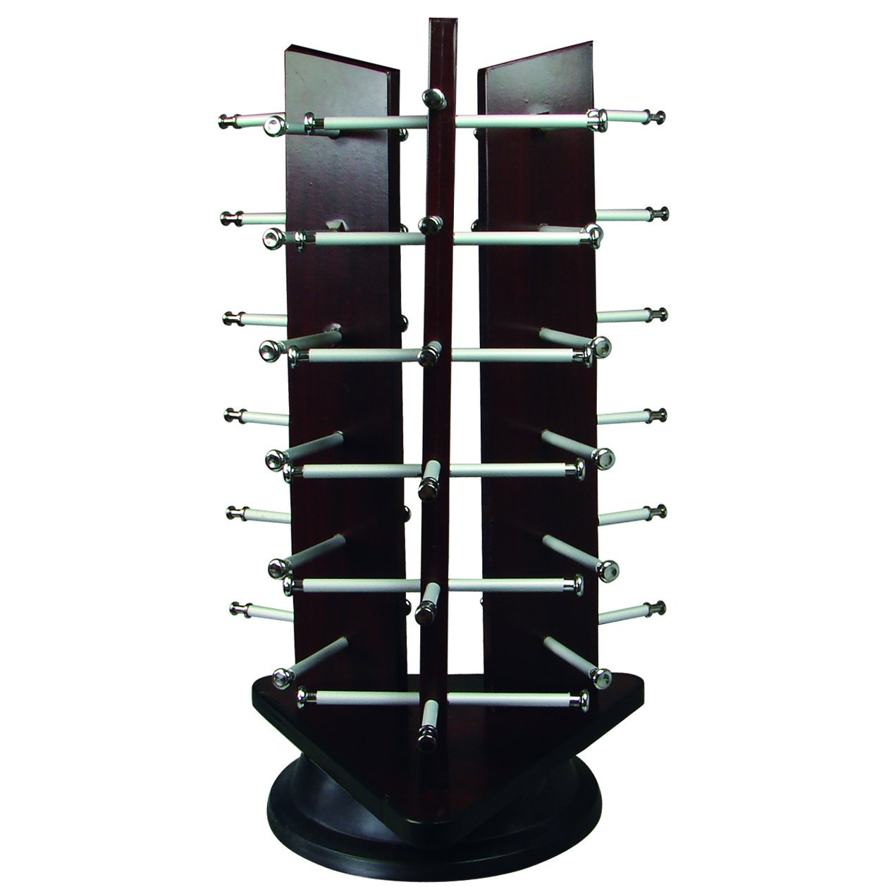 "#AC2824 Rotating Eyeglasses Display Rack. 18 Frames. 10 1/4"" X 10 1/4"" X 20""H 