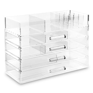 #COM076 Premium Large Clear Acrylic Storage Display Boxes. Made In Taiwan