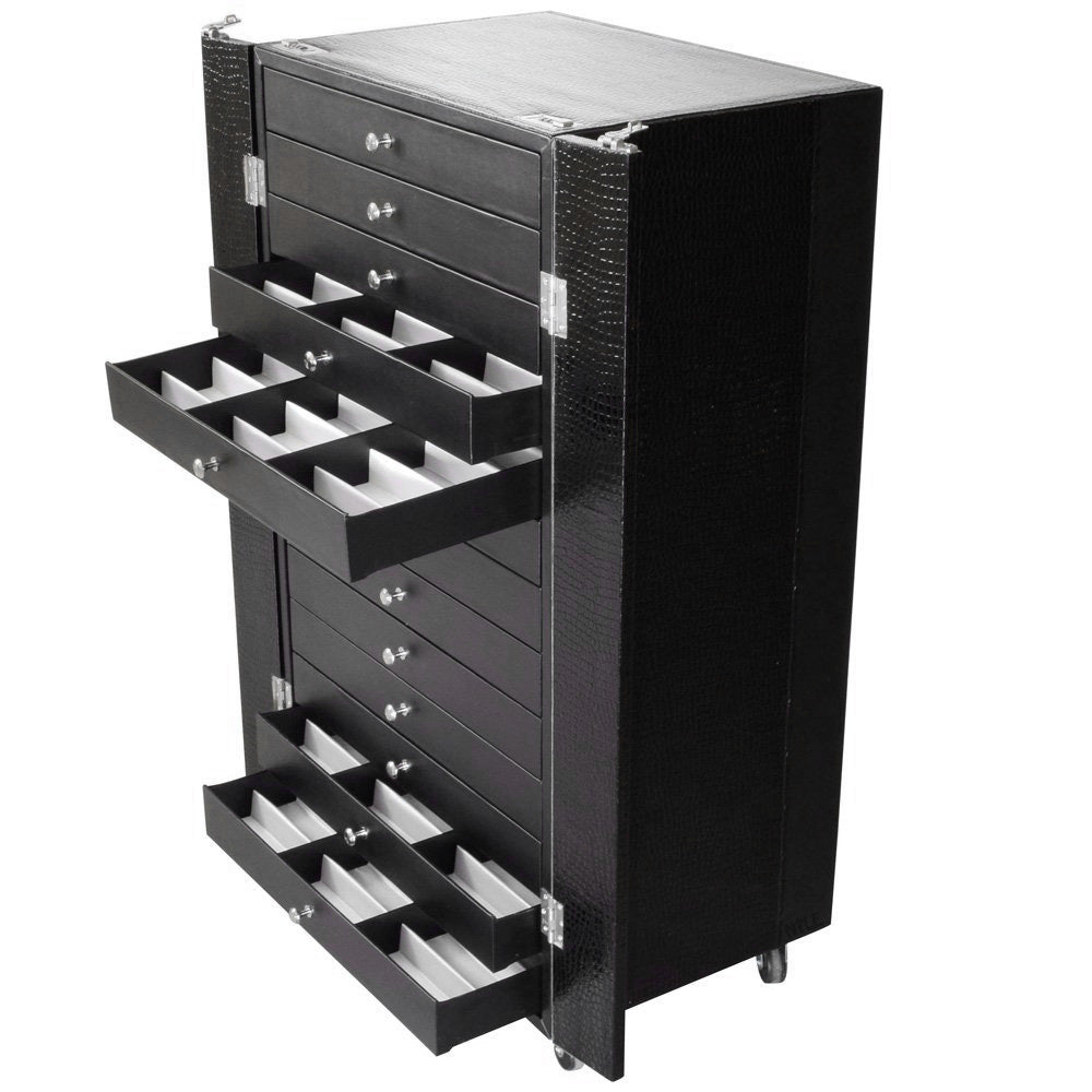 #D106 Eyewear Display And Storage Cabinet With Wheels (Include 13 Trays, Each Tray Hold 18 Frames. Total For 234 Frames)