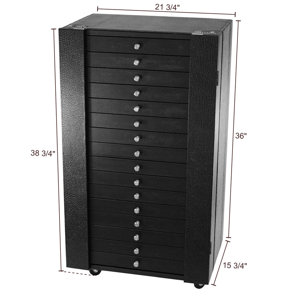 #D106-16 Eyewear Display And Storage Cabinet With Wheels (Include 16 Trays, Each Tray Hold 18 Frames. Total For 288 Frames)