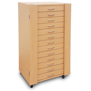 #D206-13LTBR  234 Pairs Frame Storage Cabinet- Eyewear & Sunglasses Display - with Lock and Wheels