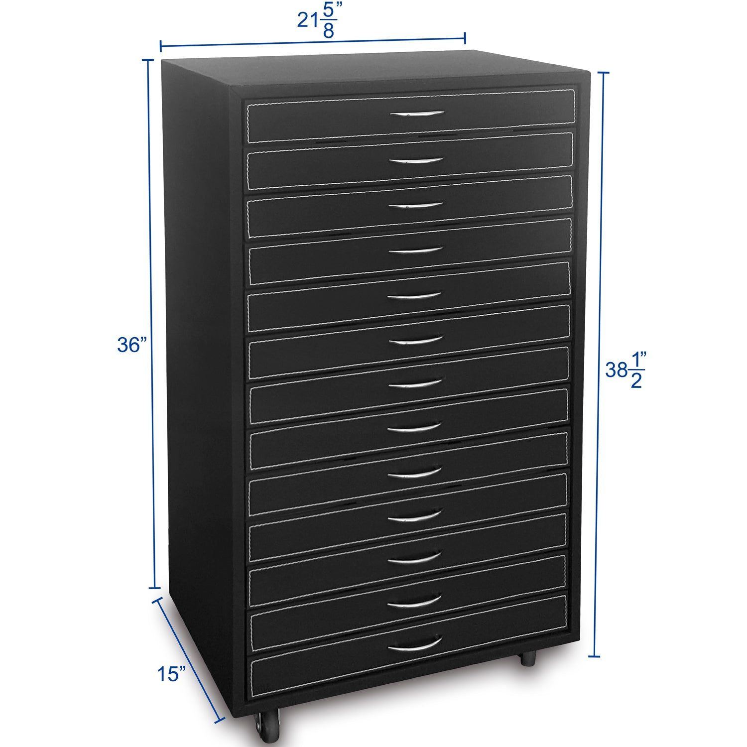 #D207-13 Black Fabric Eyewear Display And Storage Cabinet With Swivel Wheels (Include 13 Trays, Each Tray Hold 18 Frames. Total For 234 Frames)