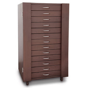 D306-13BR 234 Pairs Frame Storage Cabinet- Eyewear & Sunglasses Display - with Lock and Wheels