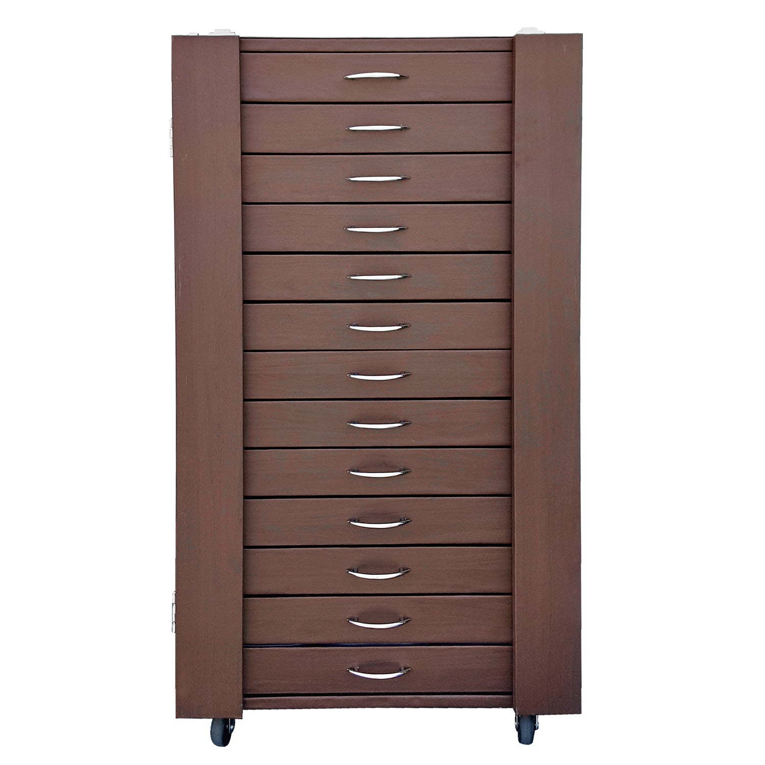 D306-13BR 234 Pairs Frame Storage Cabinet- Eyewear & Sunglasses Display - with Lock and Wheels | APEX International