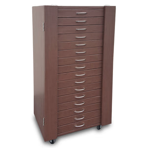 #D306-16BR  288 Pairs Frame Storage Cabinet- Eyewear & Optical glasses Display - with Lock and Wheels