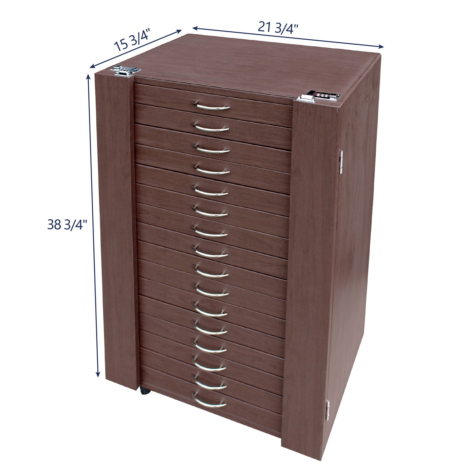 #D306-16BR  288 Pairs Frame Storage Cabinet- Eyewear & Optical glasses Display - with Lock and Wheels | APEX International