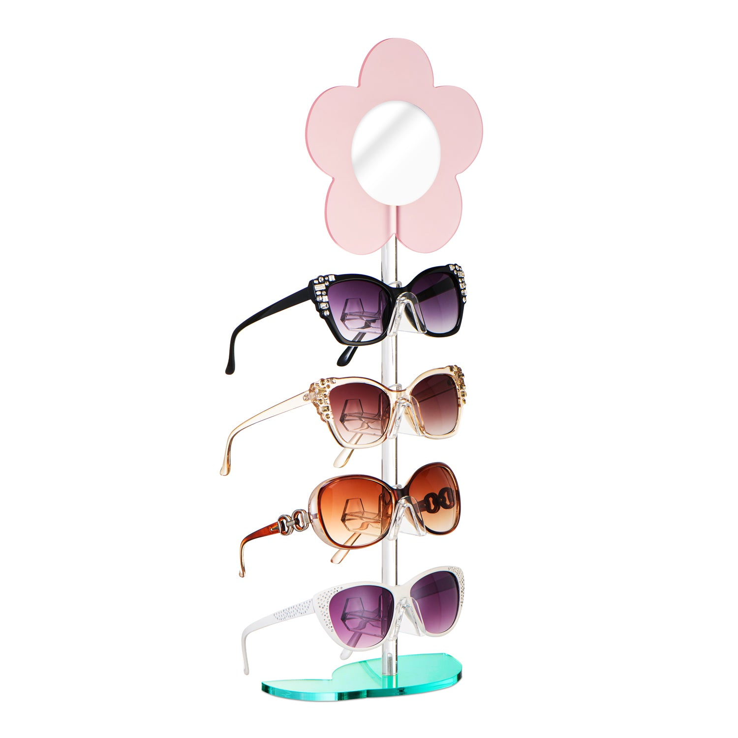 #DP065-PK Colored Acrylic Sunglasses Frame Stand Sunglasses Holder Stand