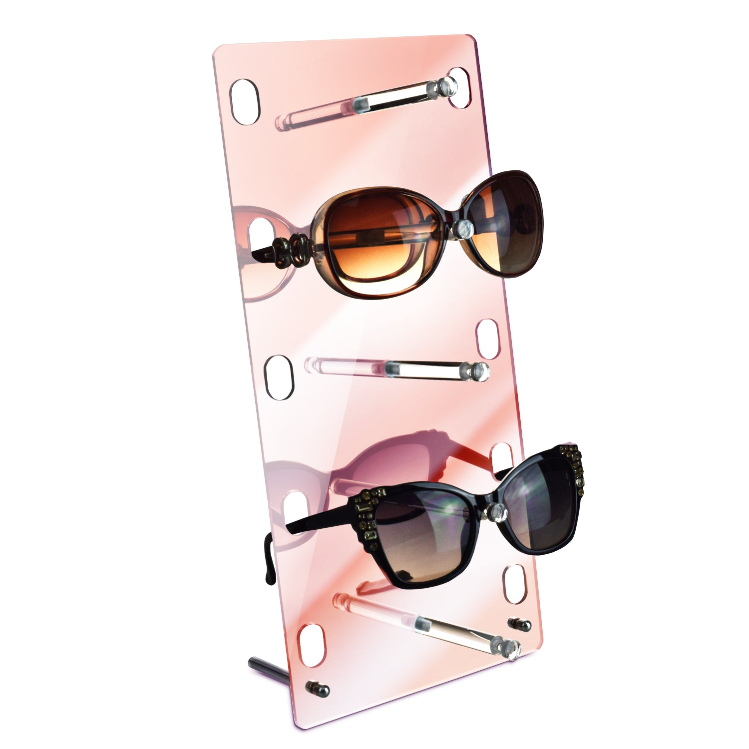 #DP605PK Acrylic Rose Gold  Mirrored Eyewear Display Rack