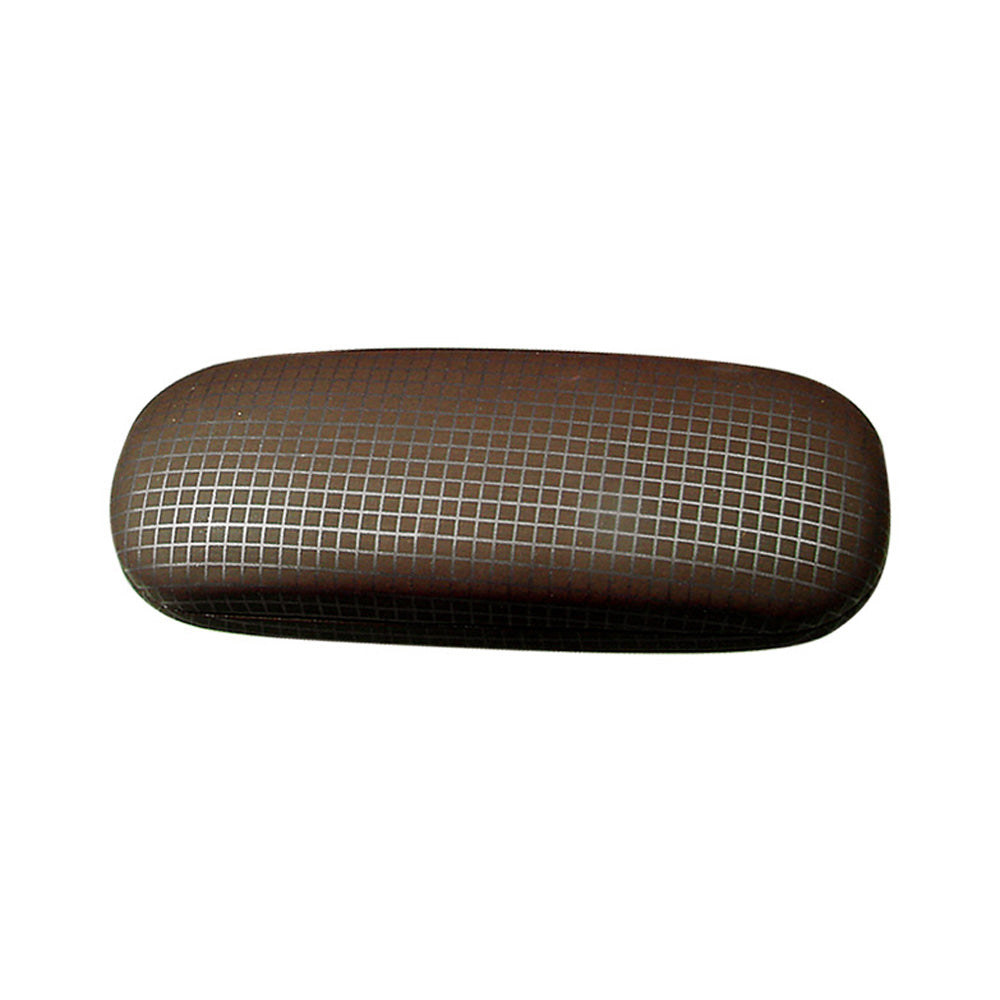 "#EYC-1018 Plaid Print Eyewear Case 6 1/2"" X 2 1/4"" 1""H 