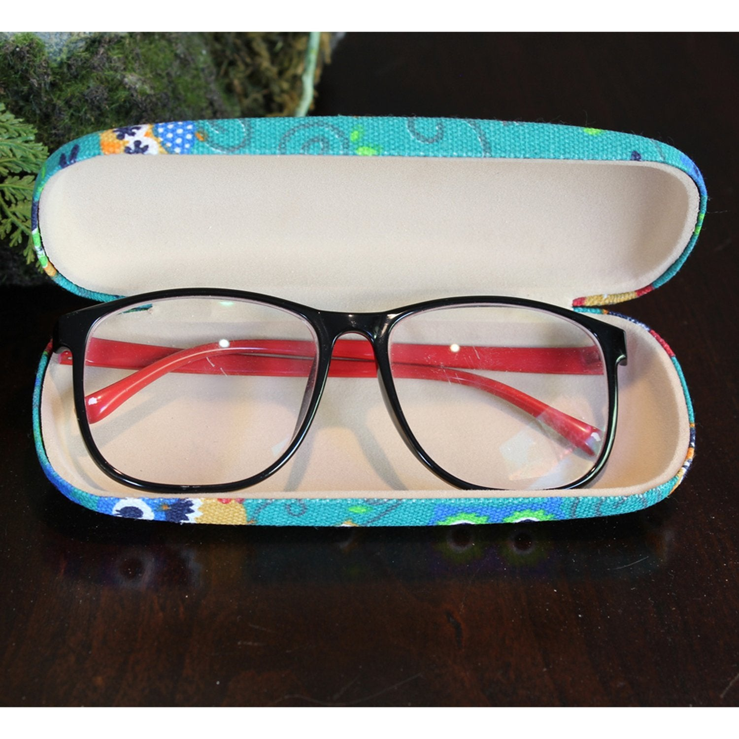 "#EYC-1698 Fabric Covered Eyewear Case 6 1/4""W X 2 3/8""D X 1 3/8""H 