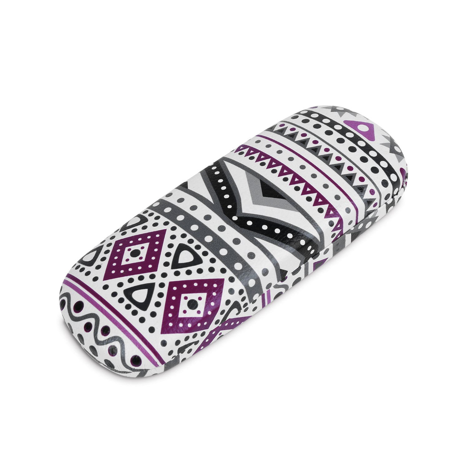 "#EYC-1716 Hardshell leatherette eyewear case with tribal print 6 1/4""W X 2 3/8""D X 1 3/8""H"