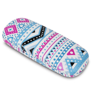 "#EYC-1716 Hardshell leatherette eyewear case with tribal print  6 1/2""W X 2 1/2""D X  1 1/2"" H"