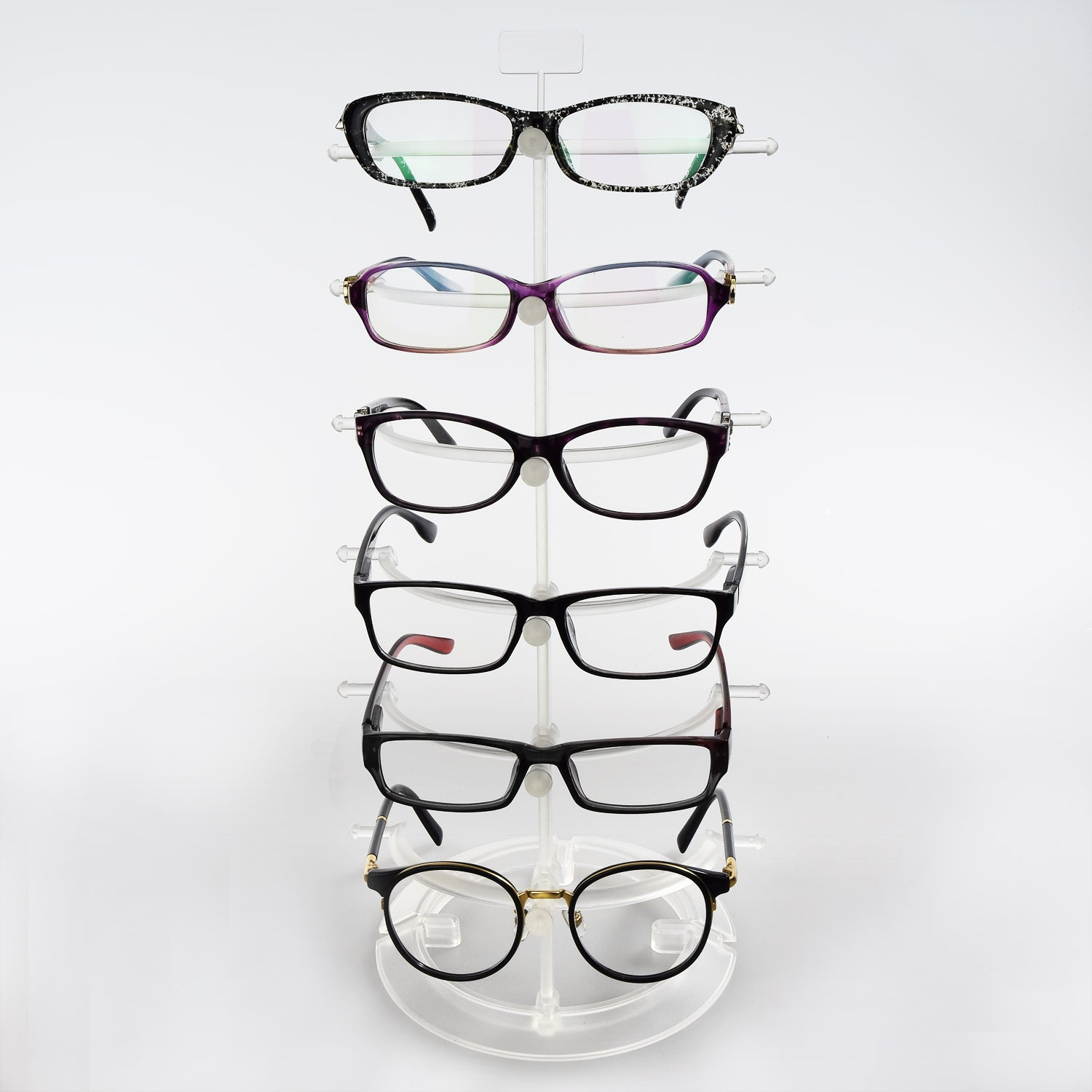 #S31-6251-10 Plastic Counter Top Eyeglass Display Stand For 6 Eyewear Frames. | APEX International