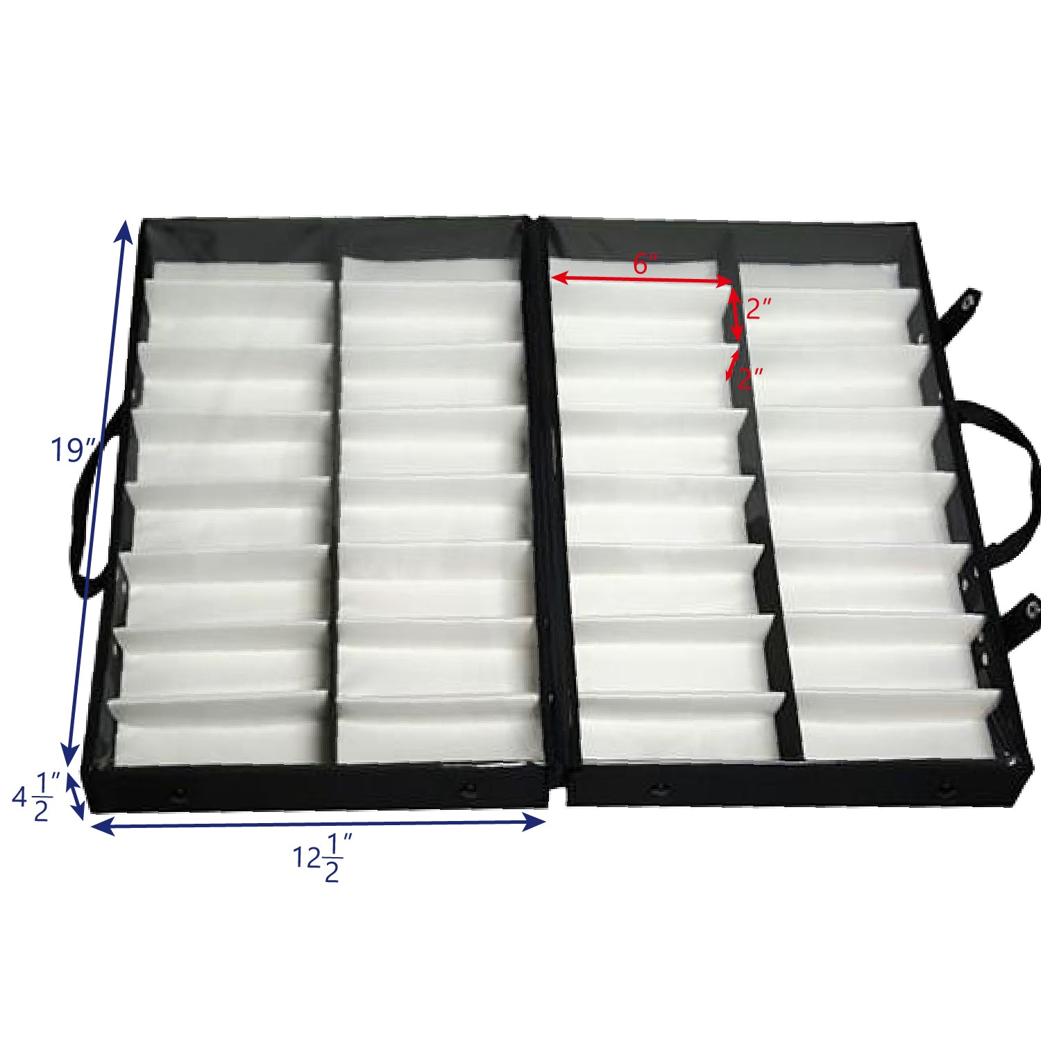 #TR-1616BC Eyewear Carrying Cases W/Clear Lid  For 32 Frames