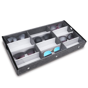 #TR-34BCL-LNG  Eyewears Organizer Box - 12 Slots Eyewear Box Display Tray