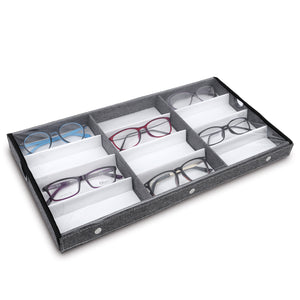 #TR-34BCS-LNG Eyewears Organizer Box - 12 Slots Small or Medium Eyeglasses Box Display