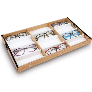 #TR-34BCS-WDOK Eyewears Organizer Box - 12 Slots Eyewear Display Case
