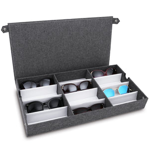 #TR-34BFL-LNG Eyewear Organizer Box - 12 Slots Eyeglasses Box Display Case