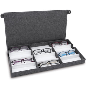 #TR-34BFS-LNG Eyewears Organizer Box -12 Slots Small or Medium Eyeglasses