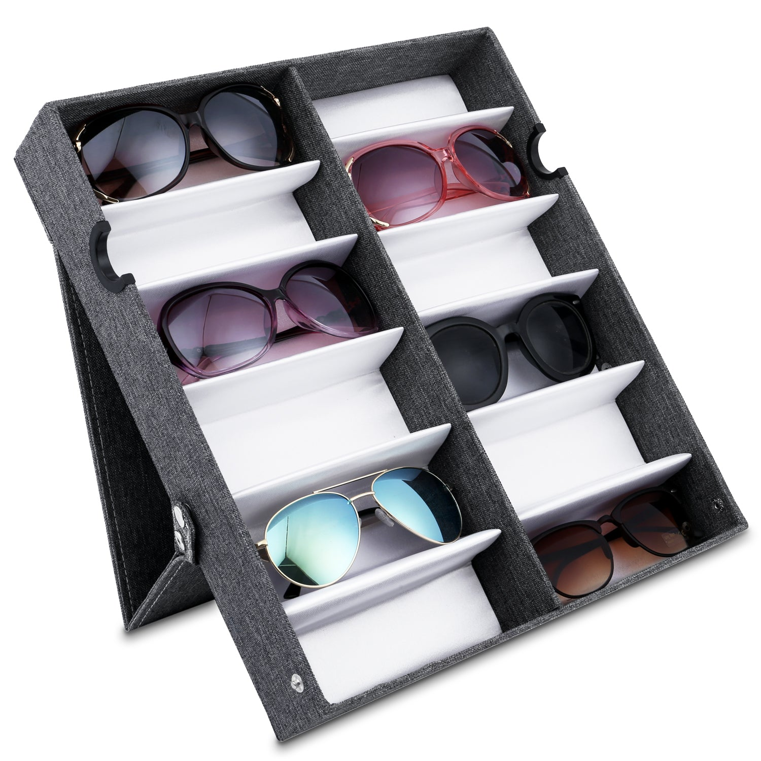 #TR-34VFL-LNG Eyewears Organizer Box - 12 Slots Eyewear Display Tray