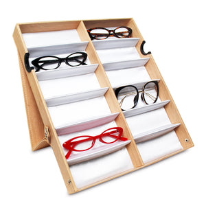 #TR-34VFS-WDOK Eyewear Storage Organizer Box -12 Slots Sunglasses Box Display
