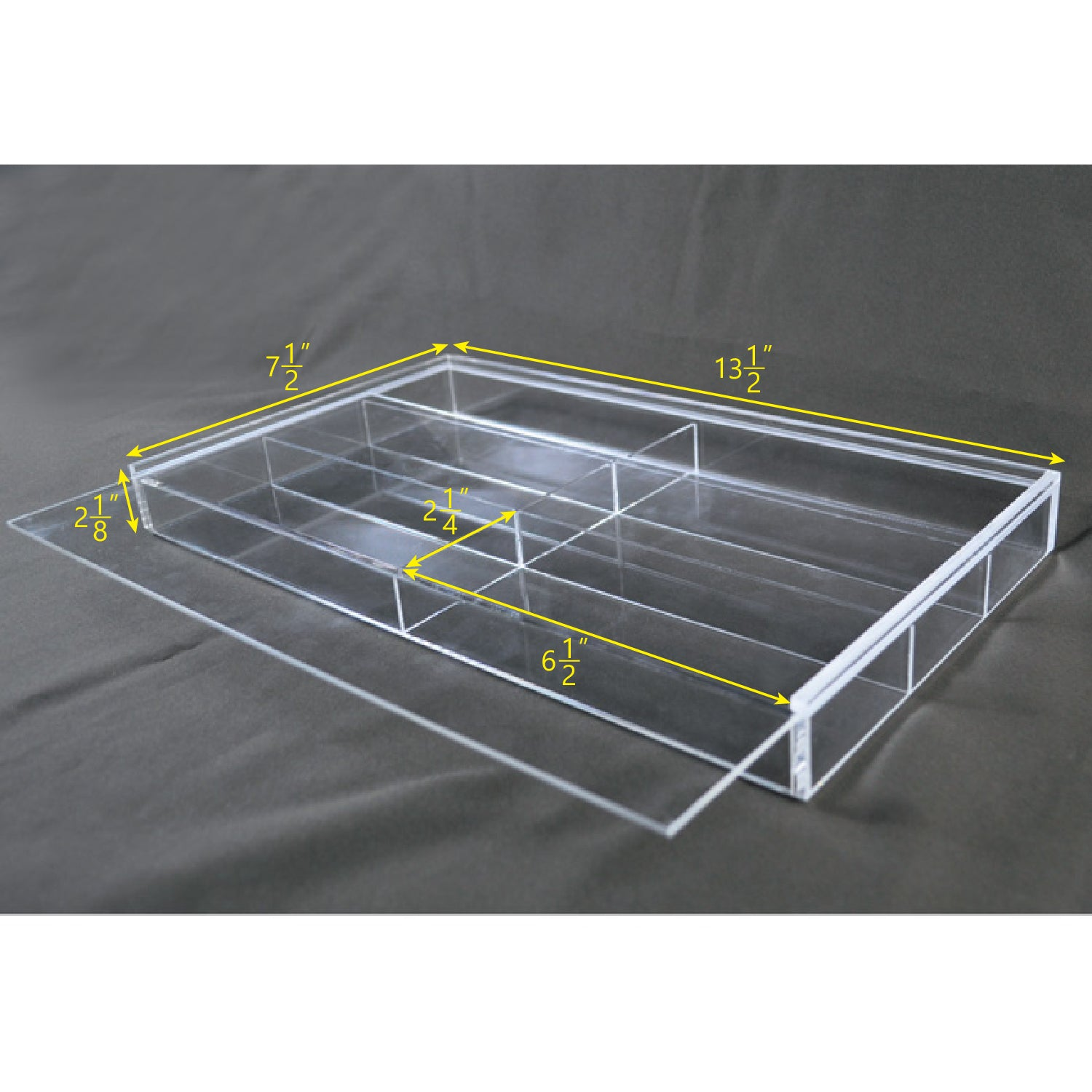 "#TR-6022TAC Acrylic Eyewear Case For Six Frames With Slide Open Lid  13 1/2"" X 7 1/2"" X  2 1/8""H"