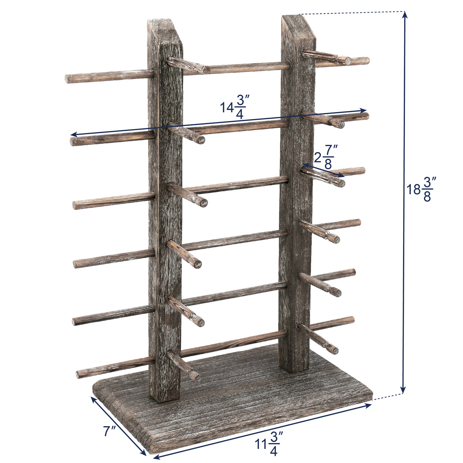 #WD-12CF Wooden Eyeglass Rack for Showcasing 12 Pairs of Glasses